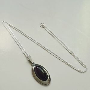 Amethyst Stone Pendant with Necklace